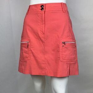 Jamie Sadock Coral Golf Skirt Size 8